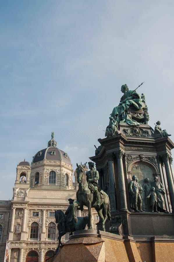 Maria Theresa-Monument an Wien-Stadt lizenzfreies stockbild