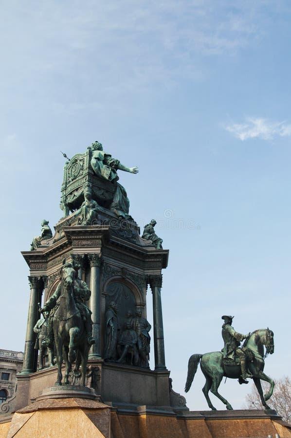 Maria Theresa-Monument an Wien-Stadt lizenzfreie stockbilder