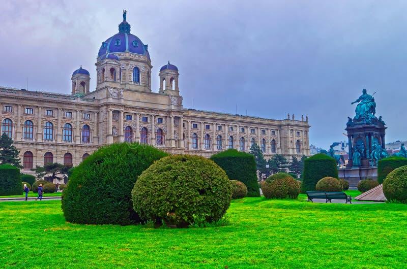 Maria Theresa Statue au musée de Vienne de l'histoire naturelle photos libres de droits