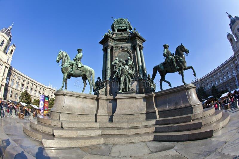 Maria Theresia Monument, à Vienne photo libre de droits