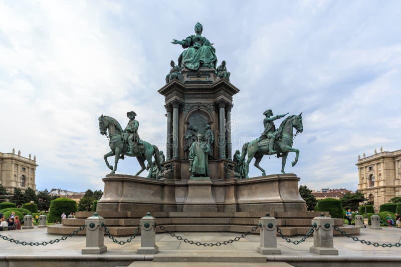 Maria Theresia Monument stock afbeelding