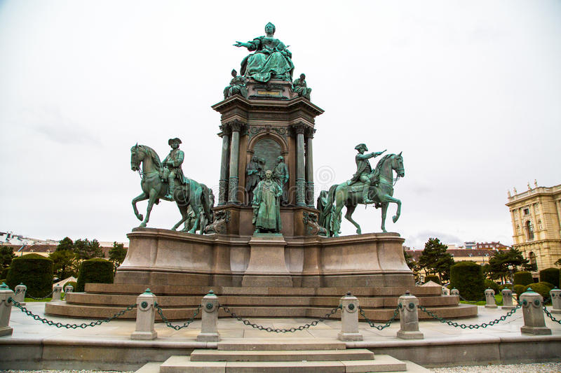Maria Theresia monument in front of the stock photography
