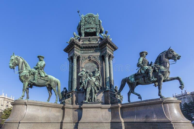 Maria Theresia Monument i Wien royaltyfri fotografi