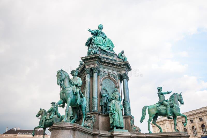 Maria Theresia-monument voor het Kunsthistorisches-museum in Wenen stock foto