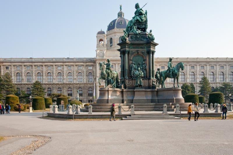 Maria Theresia Monument, Wenen stock afbeeldingen