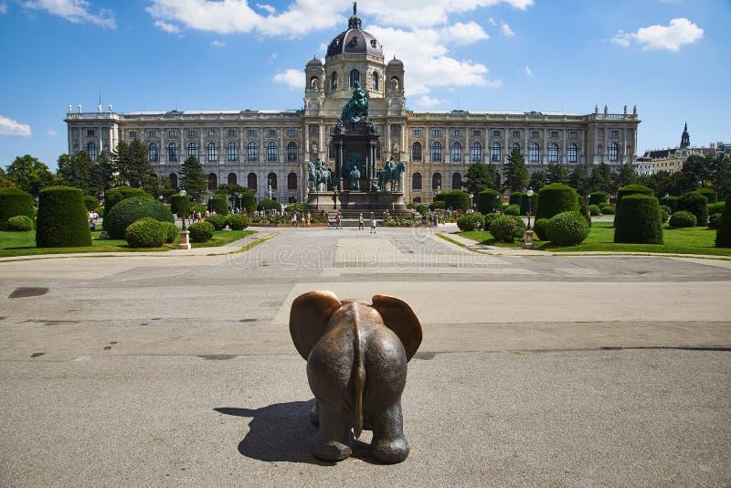 Maria Theresien-Platz, Viena, Austria fotografía de archivo libre de regalías