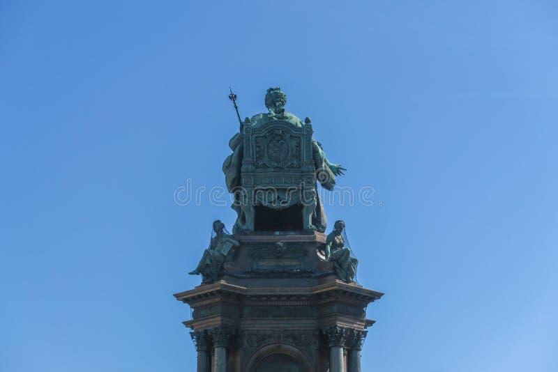 Maria-Theresien-quadrato e monumento a Vienna fotografia stock