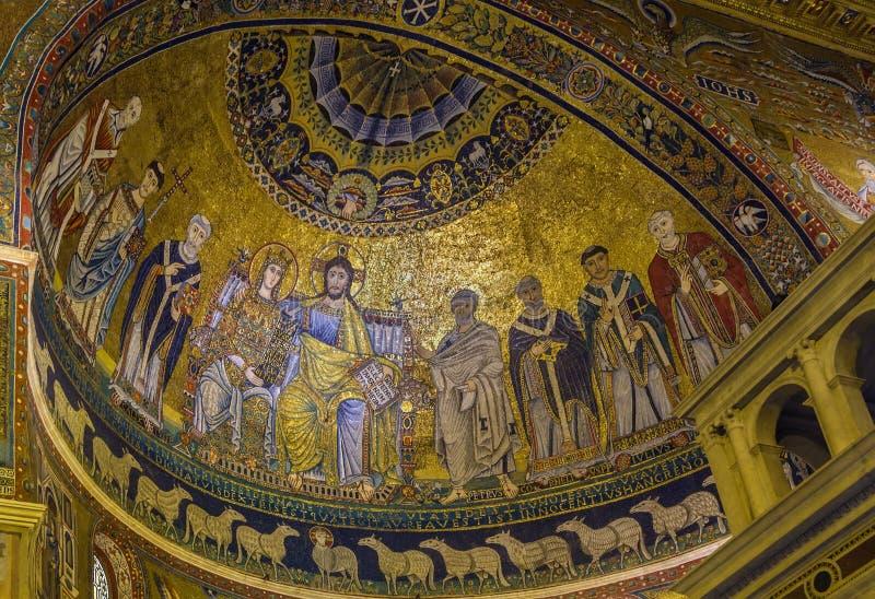 maria trastevere Rome Santa zdjęcia stock