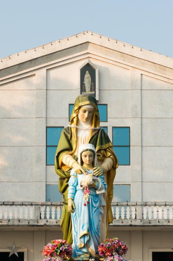 Maria und Jesus lizenzfreie stockfotos