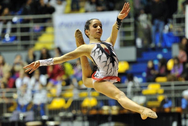 Maria Villucchi au championnat de l'Italien A1 photos libres de droits