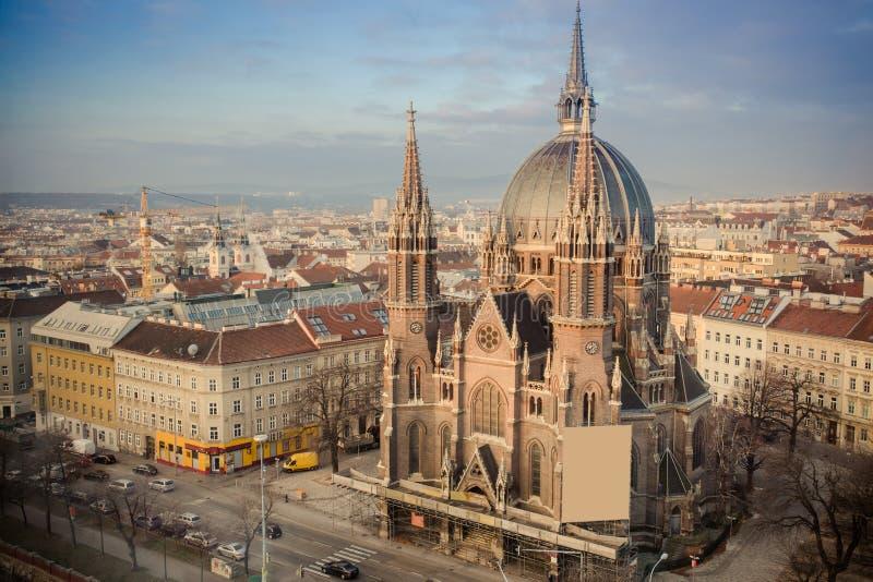 Maria Vom Siege kyrka i Wien Wien Österrike, Europa, Decemb arkivbild
