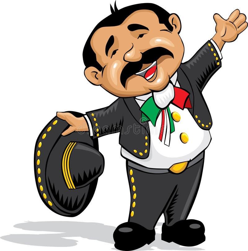 mariachi рукояток открытый иллюстрация вектора