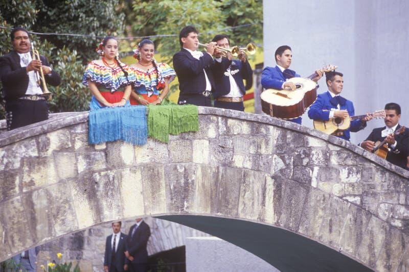 Mariachi band performs for the Clinton/Gore royalty free stock photos
