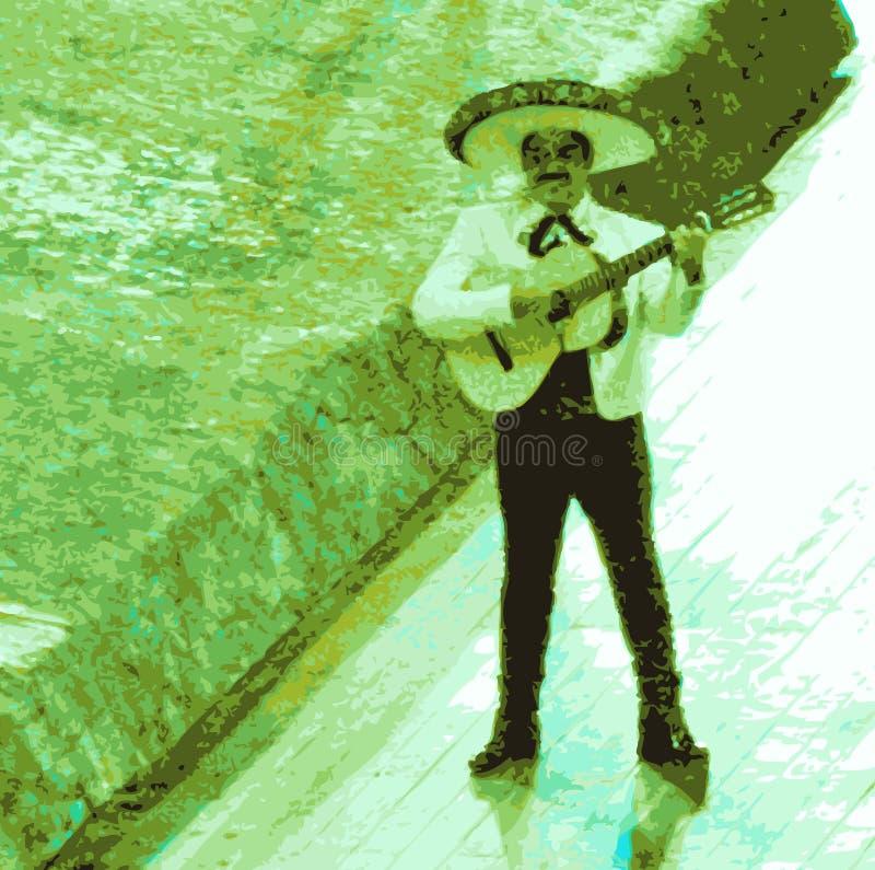 Mariachi, Mexicaanse musicus vector illustratie