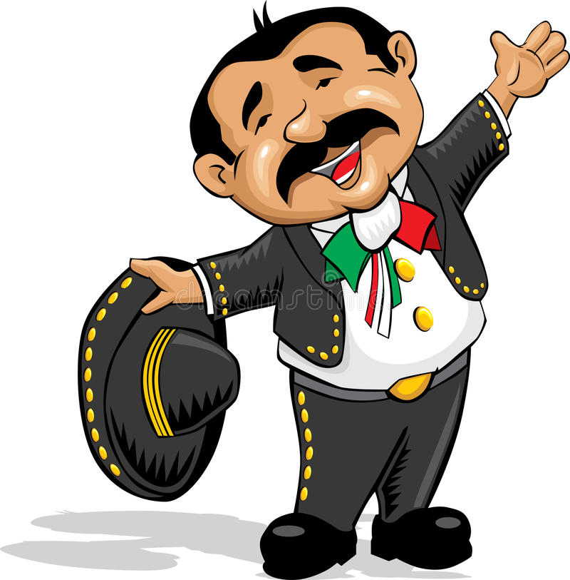mariachi with open arms stock vector illustration of sombrero rh dreamstime com mexican mariachi clipart mariachi sombrero clipart