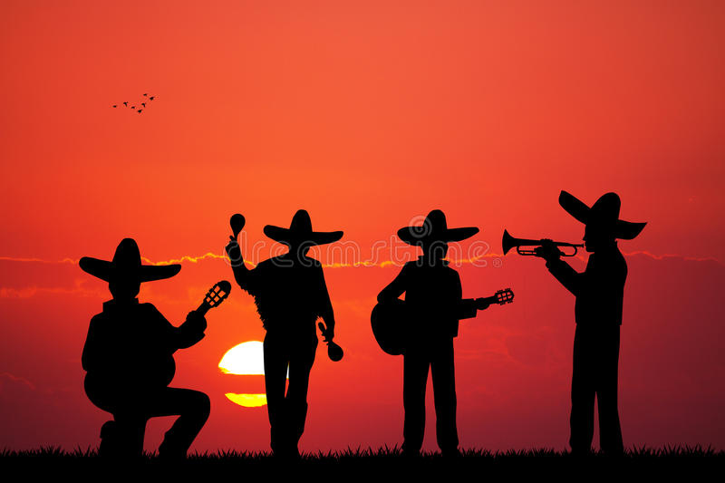 Mariachiband stock illustratie