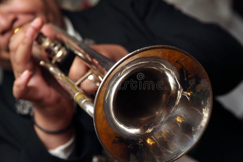 mariachien trumpetar arkivfoto