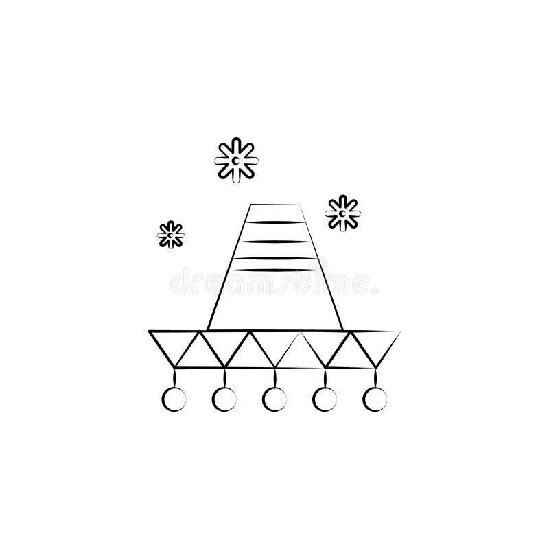 Mariachipictogram Element van dia DE muertos pictogram voor mobiele concept en webtoepassingen Kan het hand getrokken Mariachi-pi royalty-vrije illustratie