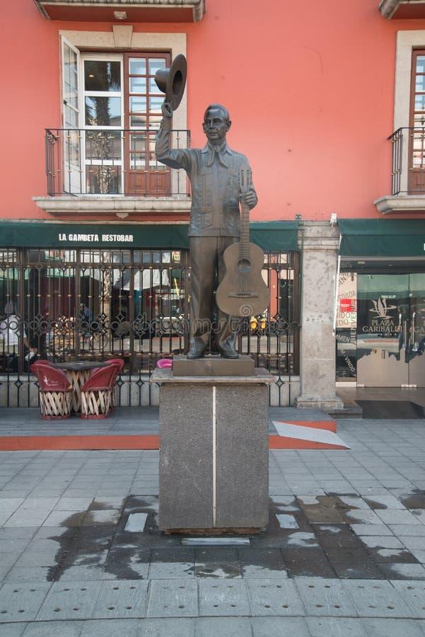 Mariachistatue Piazza Garibaldi in Mexiko City lizenzfreies stockfoto