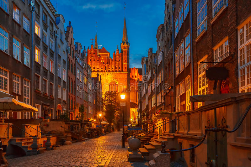 Mariacka street in Gdansk Old Town, Poland stock photo