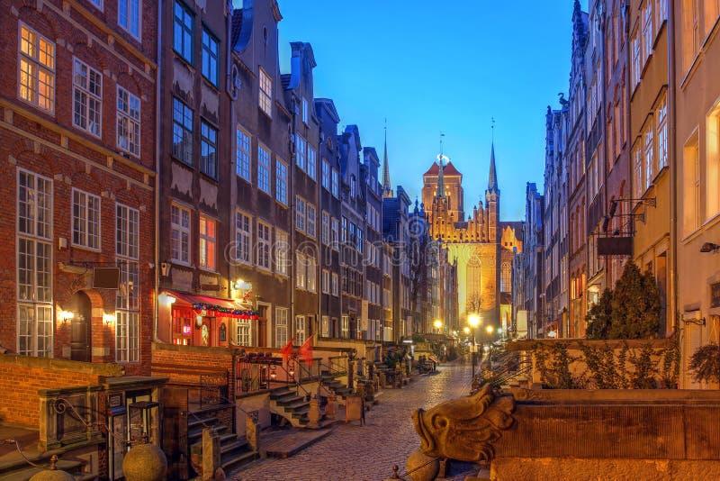 Mariacka Street, Gdansk, Poland royalty free stock images