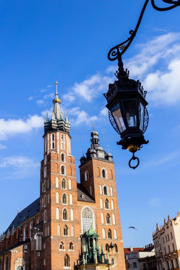 Mariacki教会,克拉科夫,波兰,欧洲 图库摄影