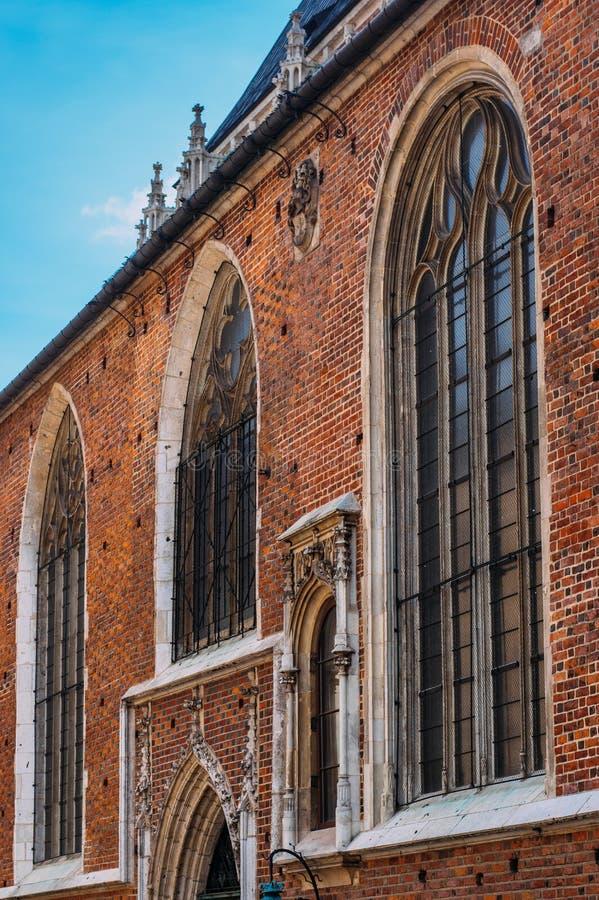 Mariacki Church, famous Temple In Krakow At Market Square. Poland stock photos