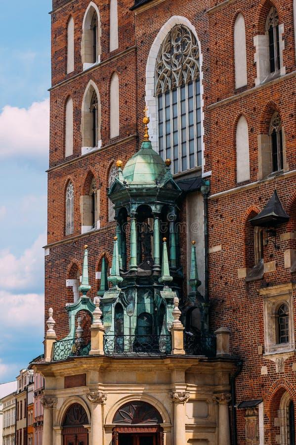 Mariacki Church, famous Temple In Krakow At Market Square. Poland stock image
