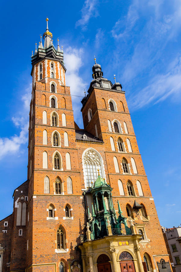 Mariacki kościół, Krakow, Polska, Europa fotografia stock