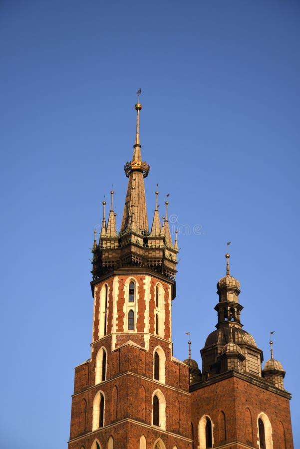 Mariacki kościół w Targowym kwadracie w Krakow Krakow nieoficjalny kulturalny kapitał Polska zdjęcie royalty free