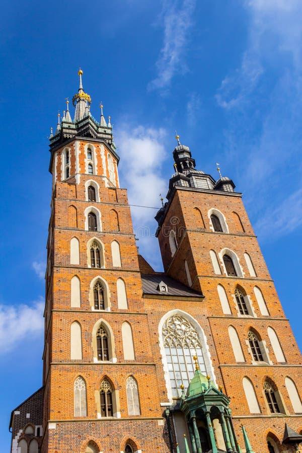 Mariackikerk, Krakau, Polen, Europa royalty-vrije stock afbeelding