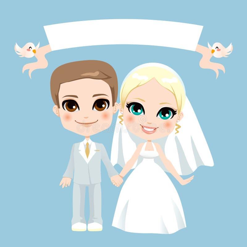 Mariage blanc de couples illustration stock