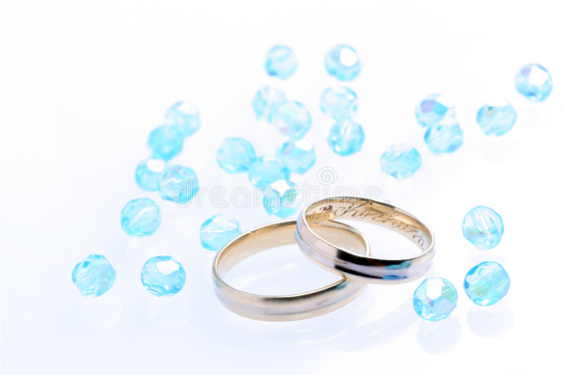 Mariage bleu photos stock