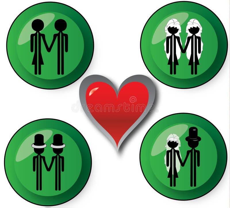 Mariage d'amour illustration libre de droits