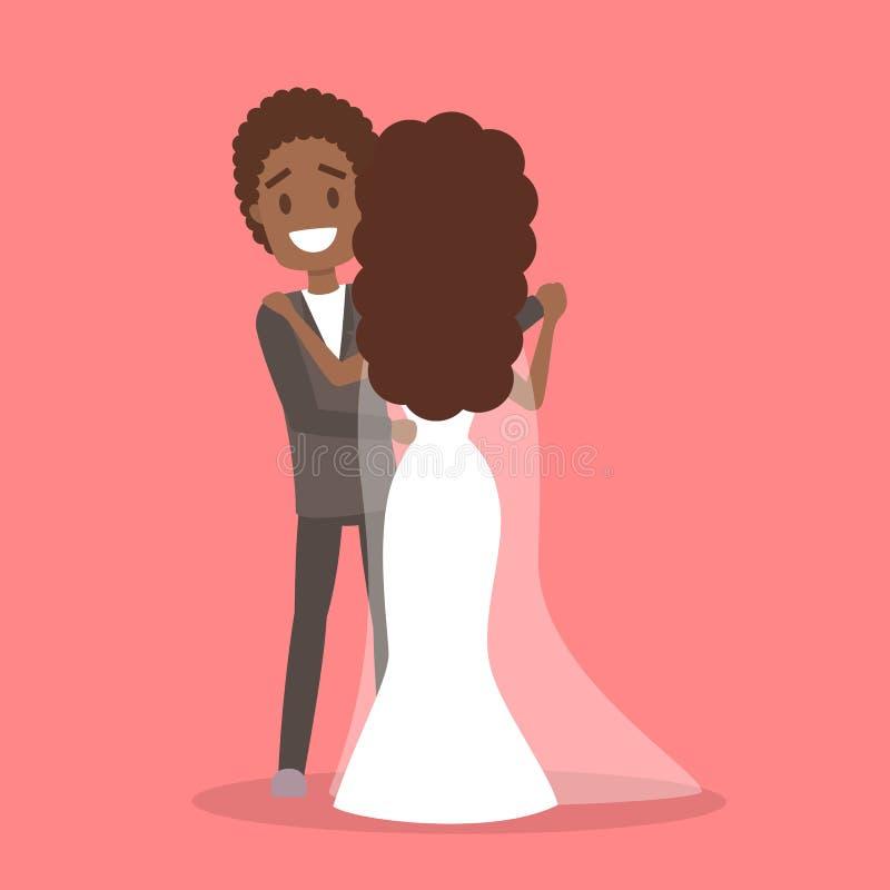 Mariage de couples Mariée et marié Personnes romantiques illustration stock