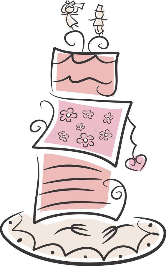 mariage de gâteau lunatique illustration libre de droits