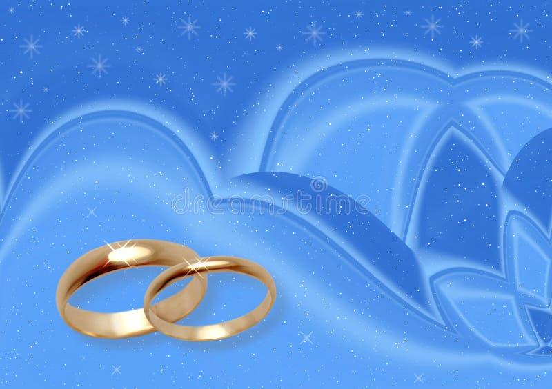 Mariage de l'hiver. illustration de vecteur