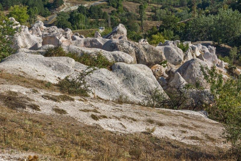 Mariage de pierre de phénomène de roche, Bulgarie photographie stock libre de droits