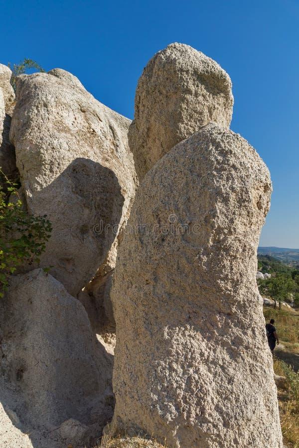 Mariage de pierre de phénomène de roche, Bulgarie images libres de droits