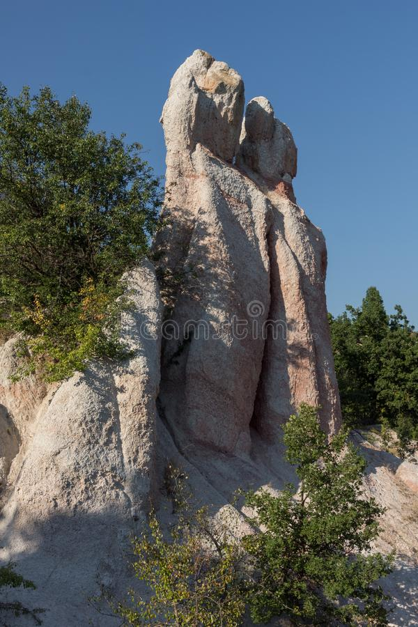 Mariage de pierre de phénomène de roche, Bulgarie photo stock