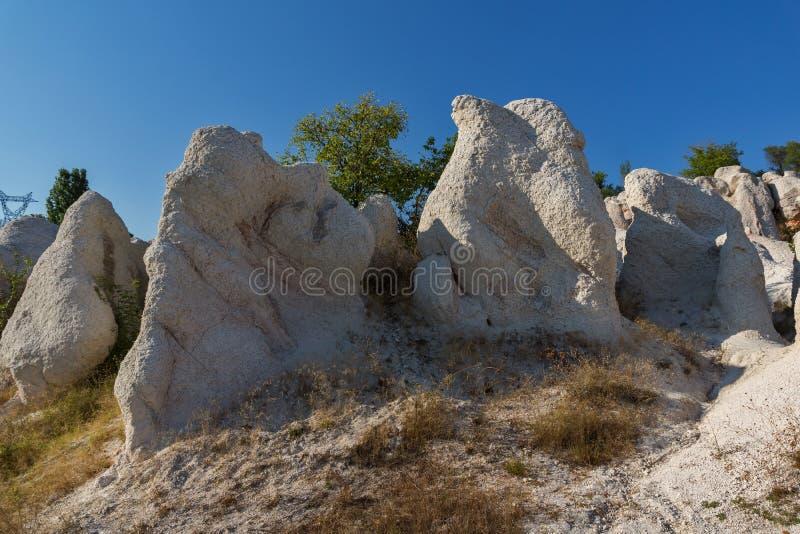 Mariage de pierre de phénomène de roche, Bulgarie photos stock