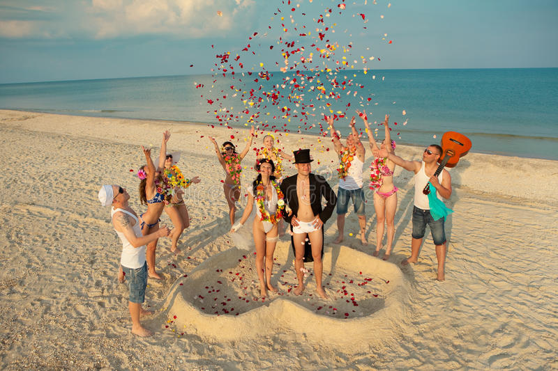 Mariage de plage photo libre de droits
