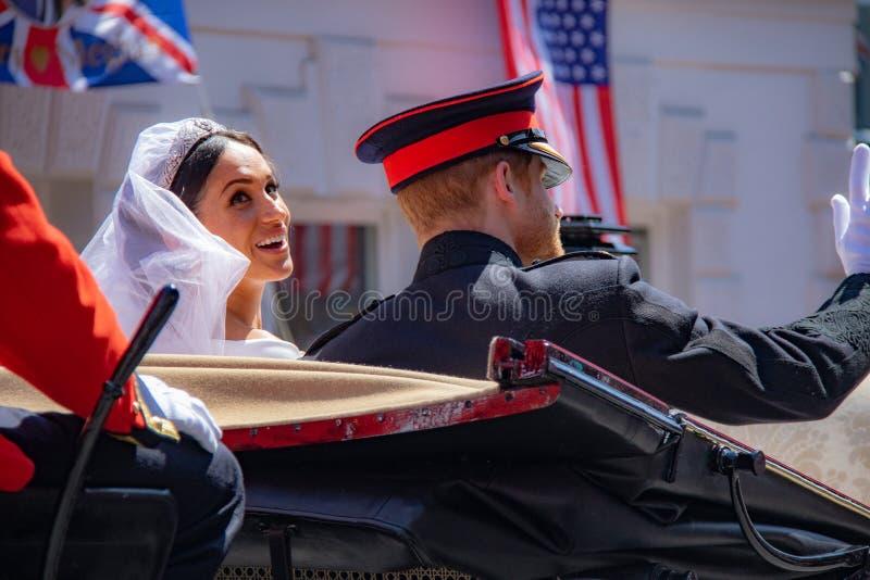 Mariage de prince Harry et de Meghan Markle photographie stock