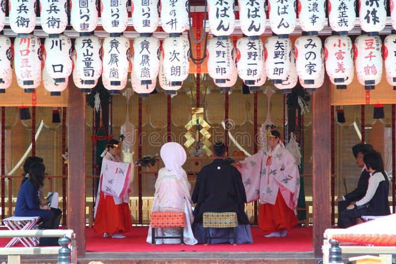 Mariage de Shinto photographie stock libre de droits