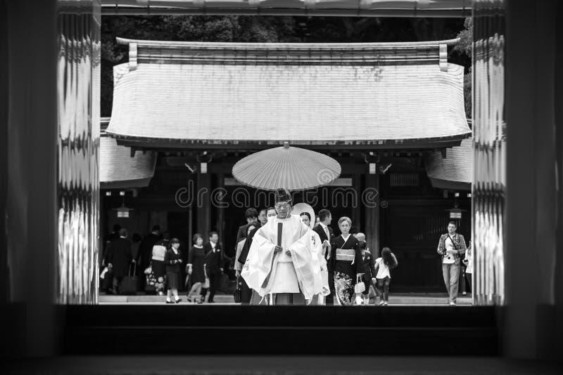 Mariage de Shinto chez Meiji Shrine, Tokyo photo stock