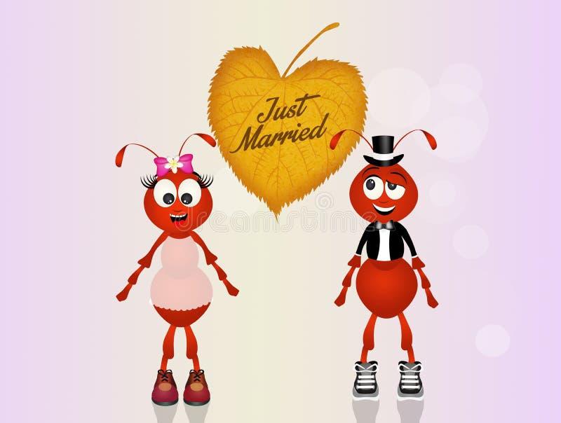 Mariage des fourmis illustration libre de droits