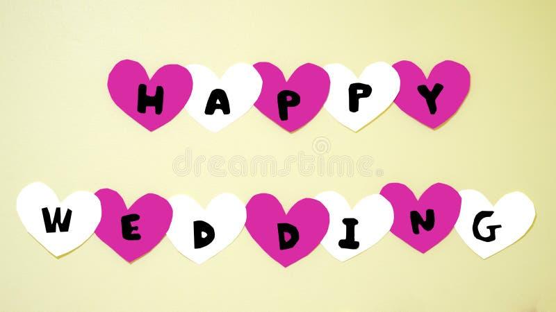 Mariage heureux de Word défini image stock