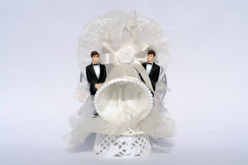 Mariage homosexuel de deux mariés photographie stock libre de droits