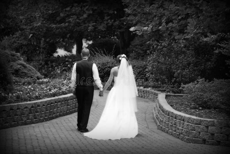 Mariage I de jardin image libre de droits
