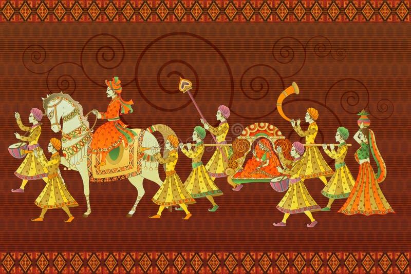 Mariage indien traditionnel illustration de vecteur